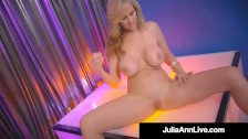 Hot Stripper Mom!? Busty Milf Julia Ann Finger Fucks After Stripping!